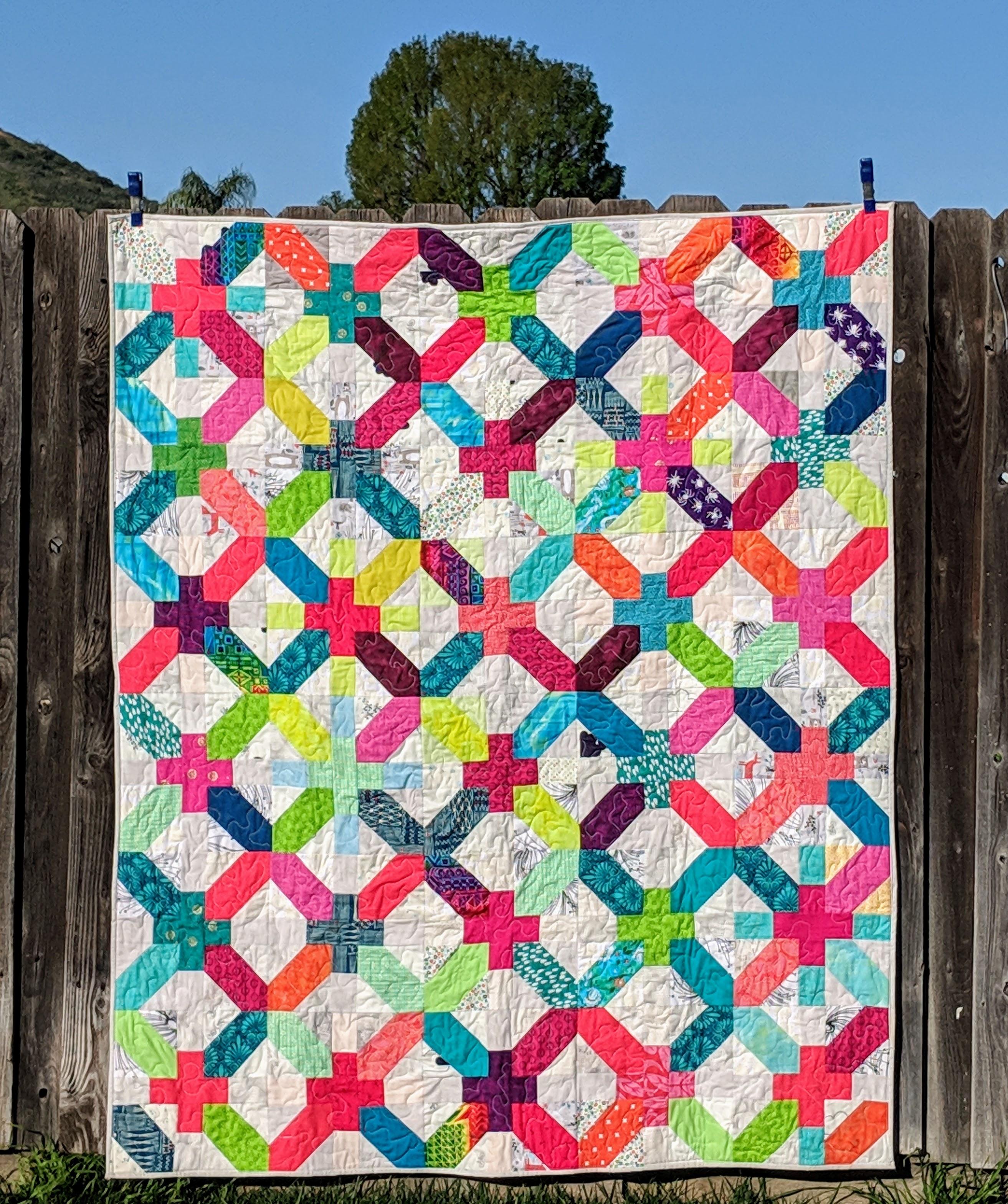 X and + Quilt Block #quiltblock #quilts